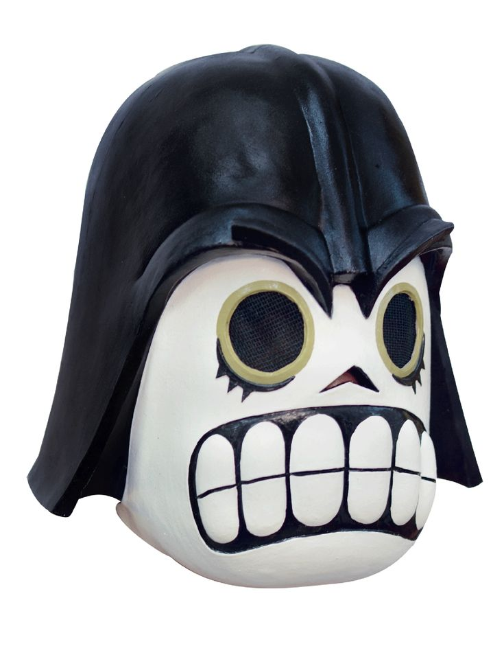 """Maschera da Comandante Oscuro adulto Dia de los muertos: Questa maschera da Comandante oscuro per adulto è realizzata in lattice dipinto a mano ed è un mix perfetto tra un """"calavera"""" delDia de los Muertos e un famoso... #halloween #maschere #halloweenmaschere"""