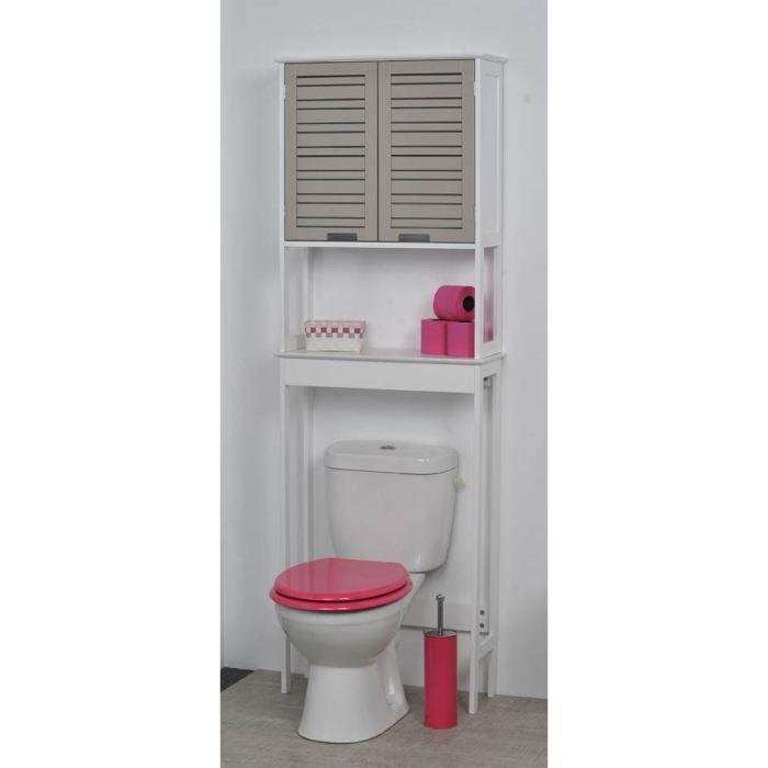 Un meuble dessus wc avec une touche exotique pour vos toilettes id al pour - Rangement wc pas cher ...