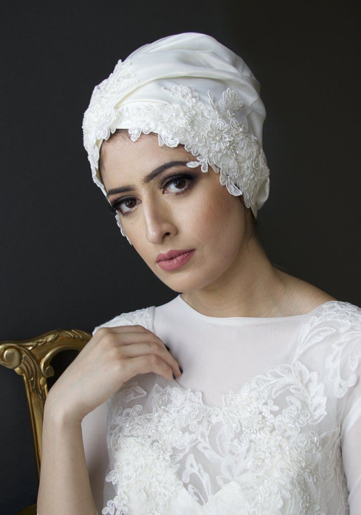 fa771ab4 Turban Linette in 2019 | Bridal Hijabs & Turbans | Turban, Headpiece ...