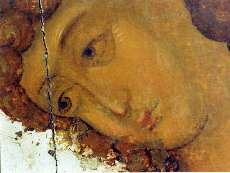 Holy Trinity by Rublev - detail.