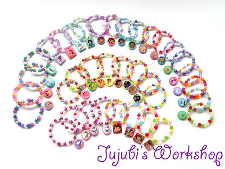 Bracelet sets - another great party favour idea!