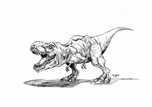 Jurassic Park T Rex Coloring Page Printable Jurassic Park Tattoo