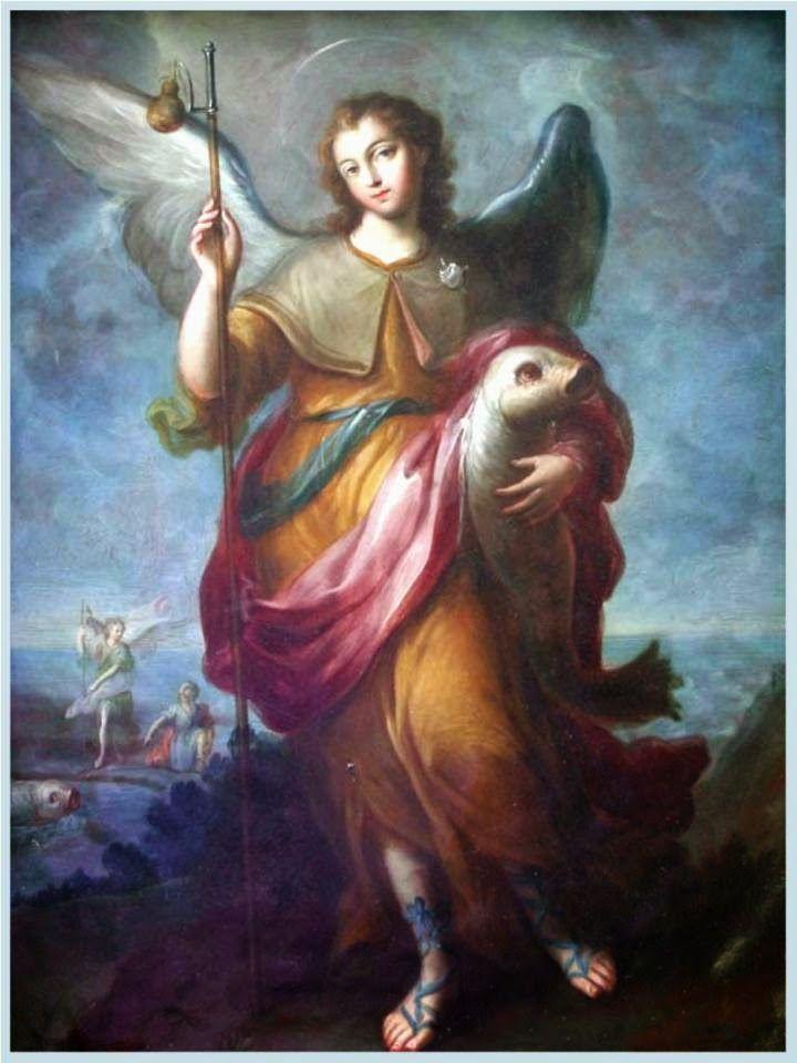 Querido y bien amado arcángel San Rafael, lleno de celo por la salvación de las almas, medicina de Dios y gran Príncipe de la Corte Ce...
