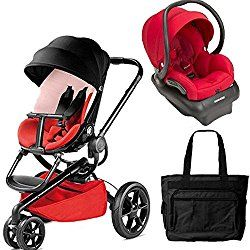 Quinny Moodd Travel System with Bag in Bold Block Red and Red