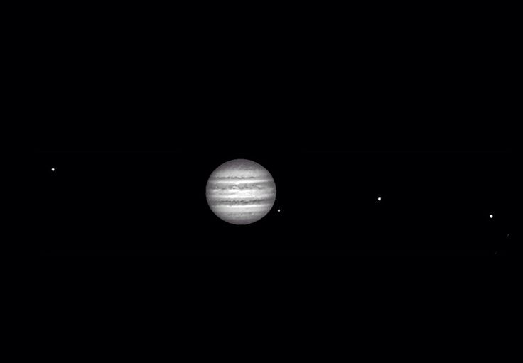 Jupiter and 4 Galilean moons. | Planet Jupiter | Pinterest