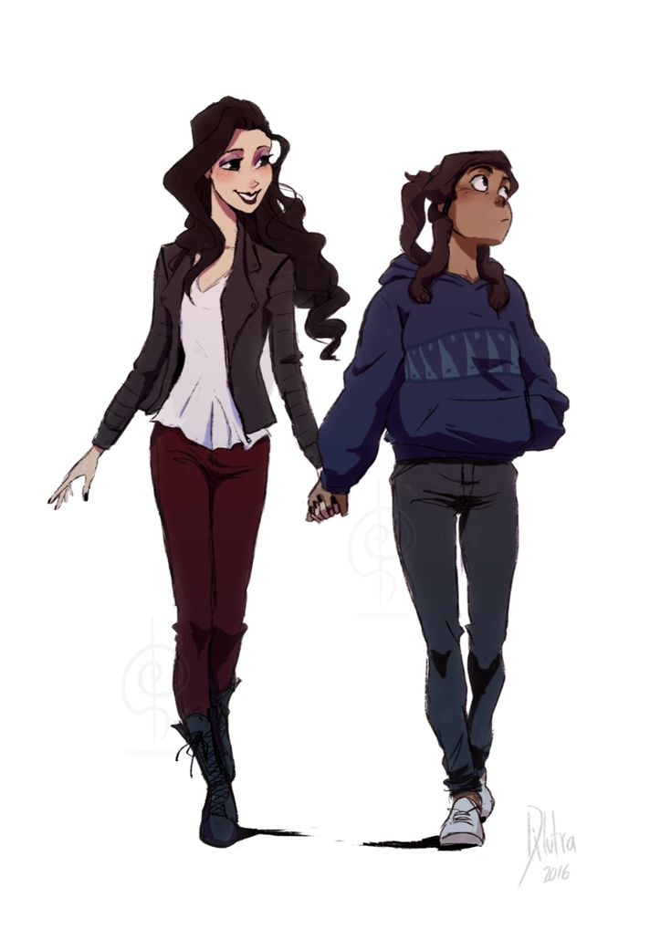 Asami and Korra - holding hands