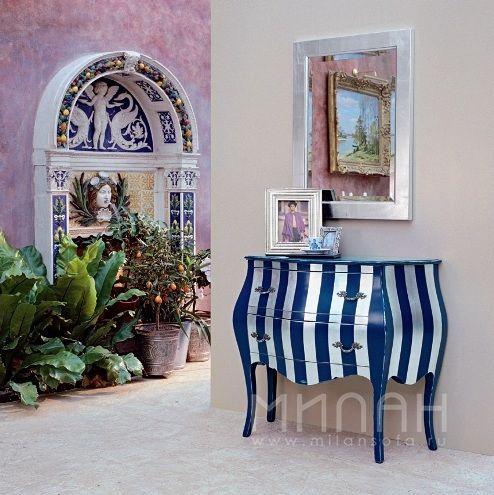 Полосатый комод ART.4969 Tonin Casa купить в Новосибирске. Милан мебель Италии.