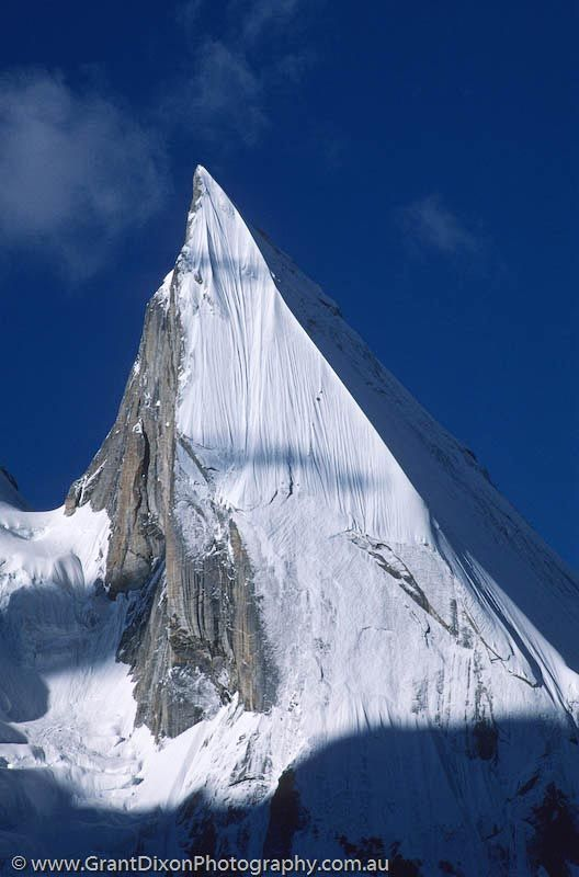 Laila Peak , 6,096 metres (20,000 ft) in Hushe Valley near Gondogoro glacier Karakoram range Pakistan