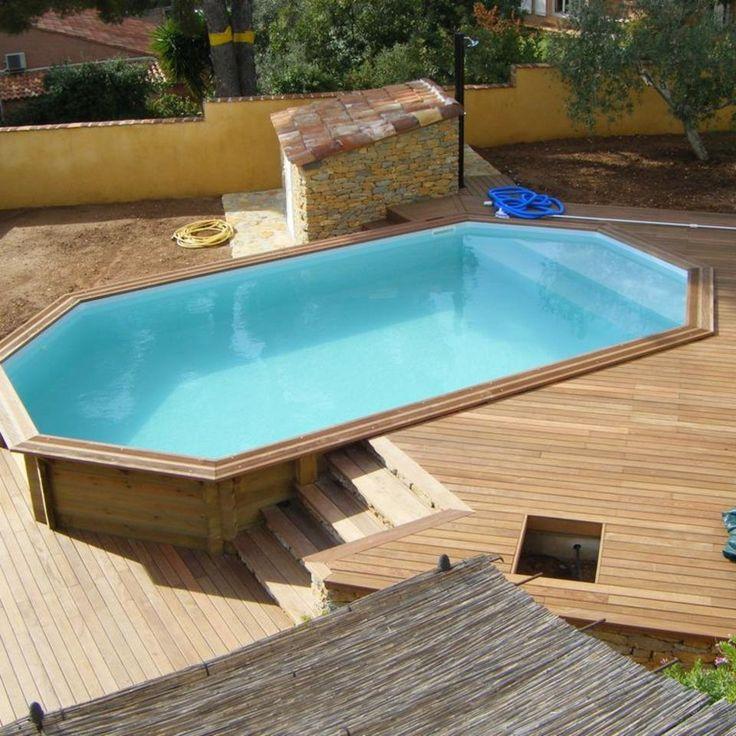 Development et entretien d'une piscine en bois