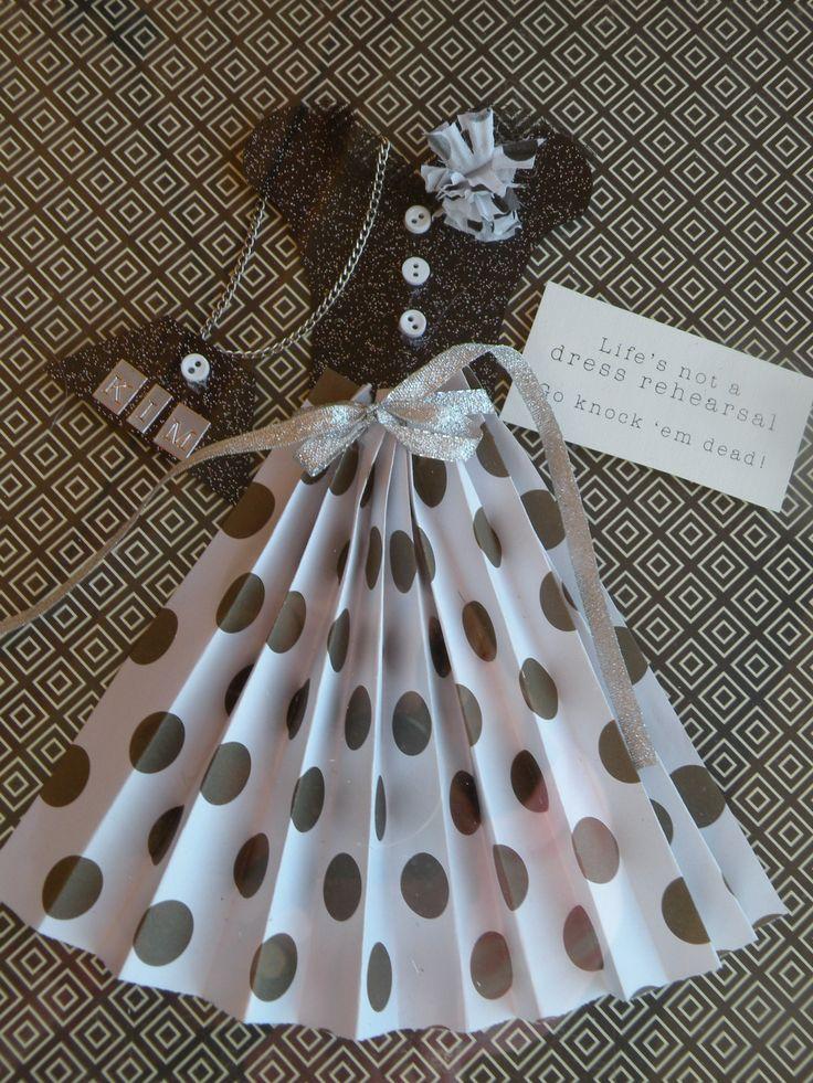 süße Idee für Embellishment im 50er Jahre Stil