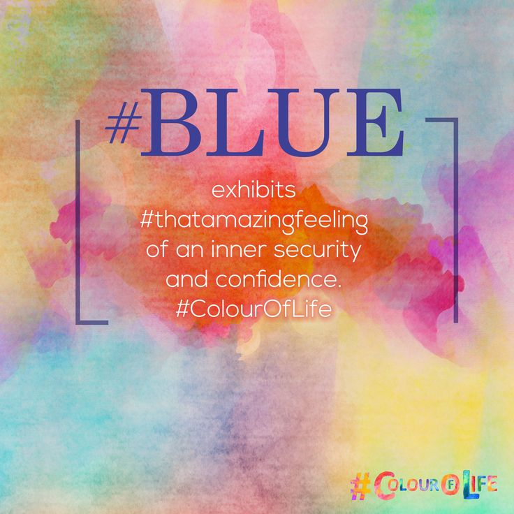 #BLUE relates to one-to-one communication. The color blue is idealistic, enhancing self-expression and our ability to communicate our needs and wants. It inspires higher ideals. This color exhibits #thatamazingfeeling of an inner security and confidence.  #ColourOfLife