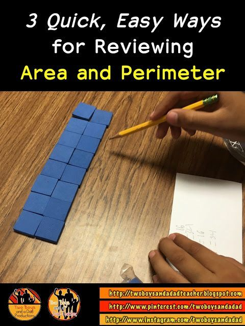 3 Quick Easy Ways for Reviewing Area and Perimeter.  Area and Perimeter Hunt, Area and Perimeter Game, Google Slides Area and Perimeter.  Each take about 20 minutes and provide additional fun, meaningful and practical ways to review area and perimeter.  Come check it out on my blog!