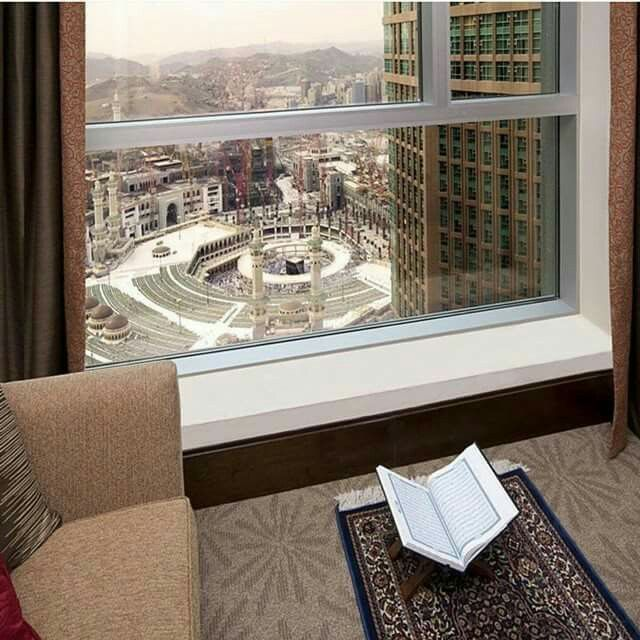 A beautiful view  from a hotel room # Mecca
