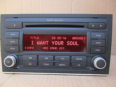 Audi a4 s line concert #radio stereo cd #player #+code 8e0035186al,  View more on the LINK: http://www.zeppy.io/product/gb/2/172236626360/
