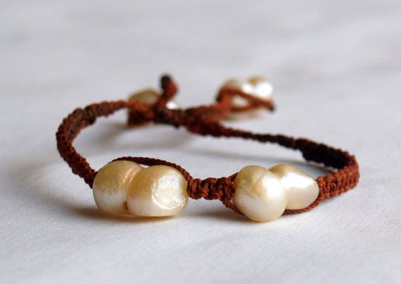 Mexican Pearl Bracelets by BazaarArtisani on Etsy, $40.00
