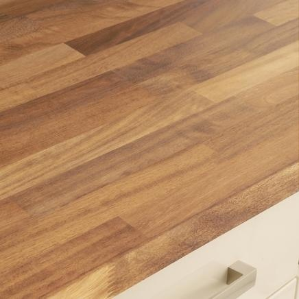 Iroko Block Solid Woork Worktop | Kitchen Worktops | Howdens Joinery