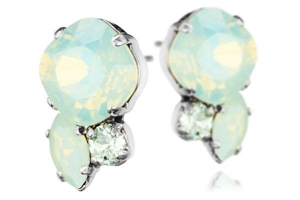 Boucles d'oreilles percées Mint plaquées argent Reminiscence