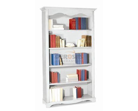 Libreria a giorno bianco opaco