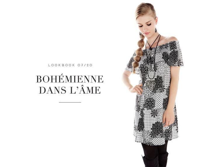 BOHÉMIENNE DANS L'ÂME // BOHEMIAN DREAM #floral #dress #robe #fleurs #gipsy #dream #blackandwhite #boho #boheme #bohemian #mode #glam #fashion #femme #women #lookbook #fw16