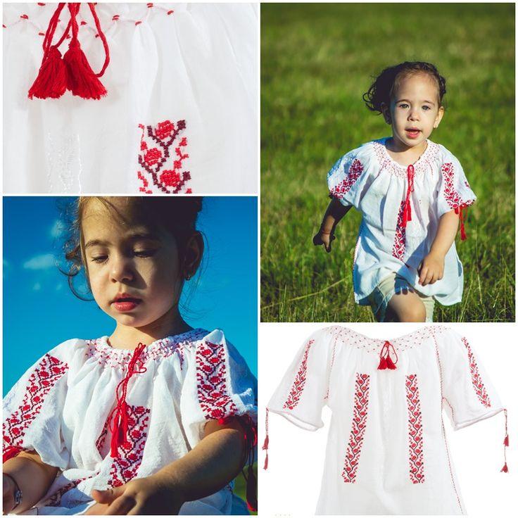 Traditional Romanian Blouse for Kids<3 #romanianlabel #photovisionsibiu
