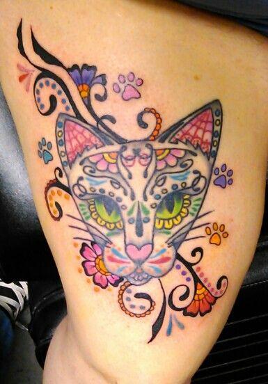 Animal sugar skull tattoo - photo#55