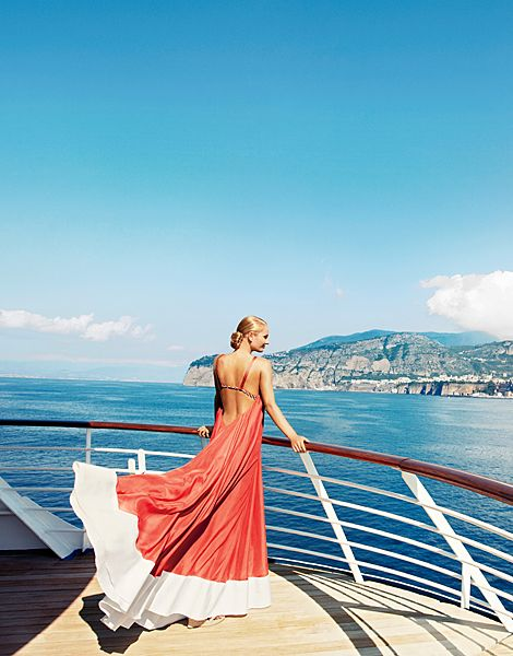 Sail Sorrento's Rocky Coast, Just Like the Model on Our Sunny August Cover : Condé Nast Traveler