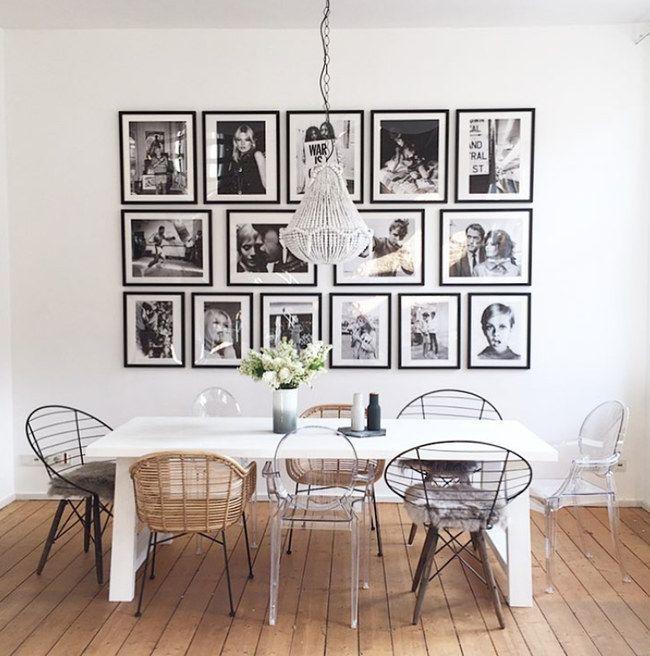 Super Idee zur Anordnung von Wandbildern/-fotos