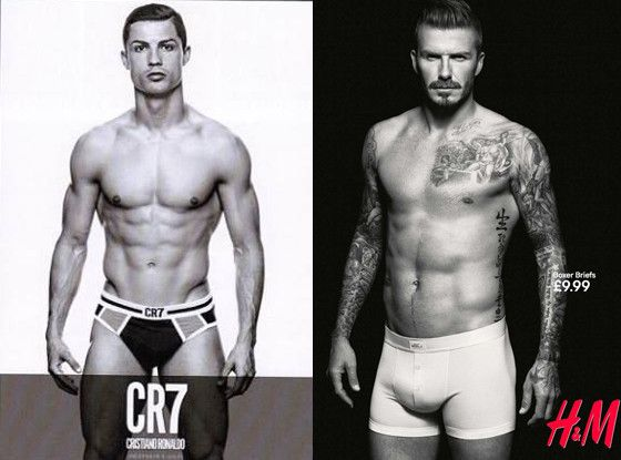 Cristiano Ronaldo vs. David Beckham: Which stud looks better in his underwear ads?! (Click for more pics!)