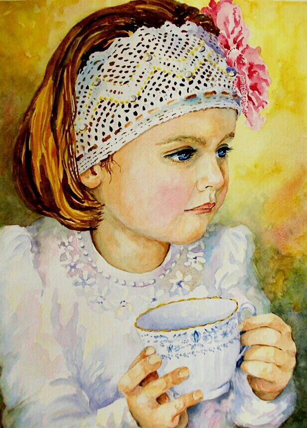 Portrait of a little girl by Suset Maakal