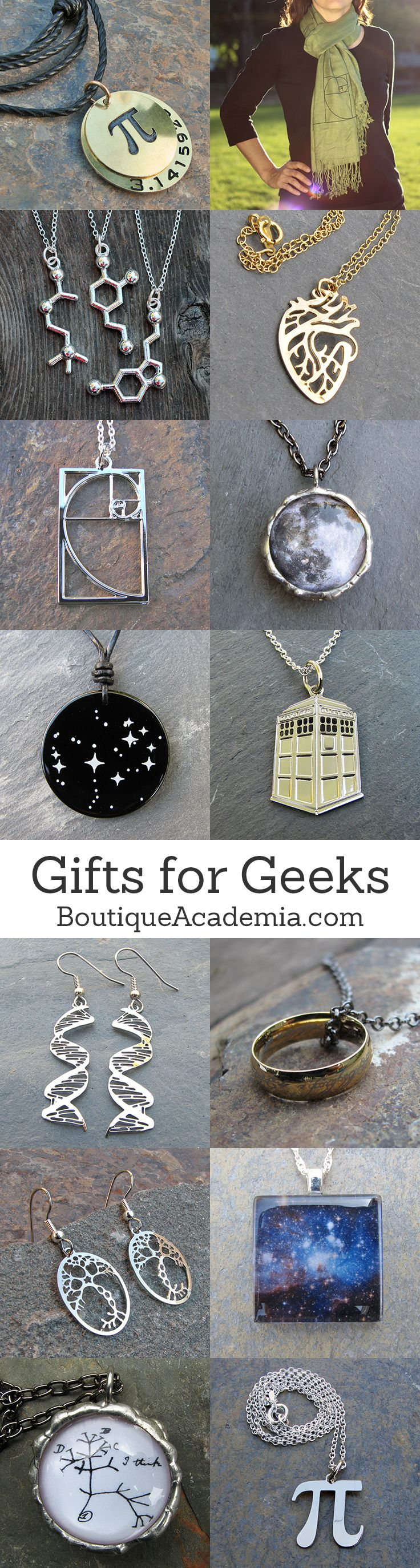 Science & math jewelry, and geek jewelry, I absolutely love this