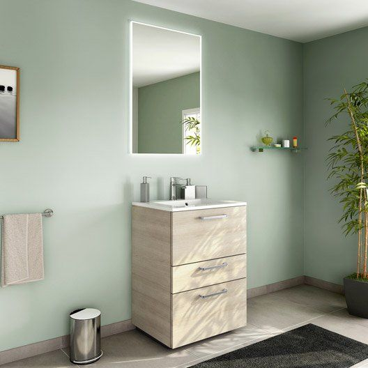 75 best Deco images on Pinterest Kitchen, Room and Wood - leroy merlin meuble salle de bain neo