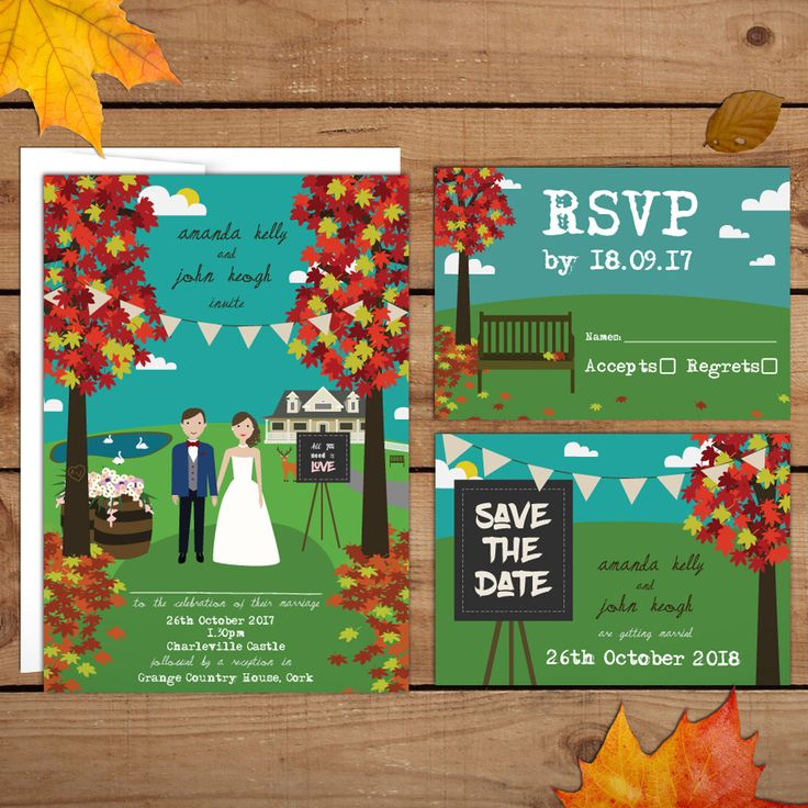 Autumn Wedding InvitationsWedding Invitations to start your exciting adventure together
