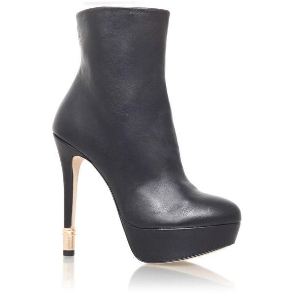 Kurt Geiger London Phoenix  Shoes (€230) ❤ liked on Polyvore featuring shoes, black, kurt geiger, kurt geiger shoes, kohl shoes and black shoes
