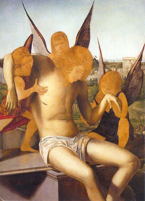 Antonello da Messina - Angel Pietà (1475). Venice, Correr Museum