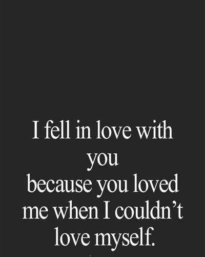 I fell in love