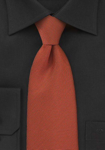 Krawatte  zart texturiert kupfer-orange