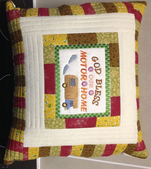 Cushion Cover $25.00 www.catchacreation.com.au   Green Gable Quilts