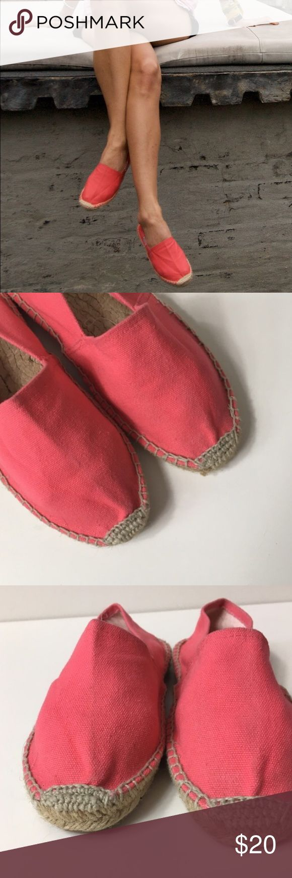 Soludos for j. Crew watermelon pink espadrilles Soludos for j. Crew watermelon pink espadrilles Soludos Shoes Espadrilles