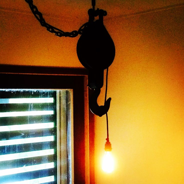 Rope lock ceiling light