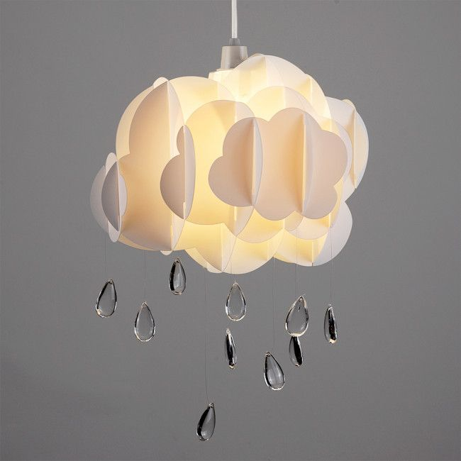 Tesco direct cloud rain drops ceiling light pendant shade in white