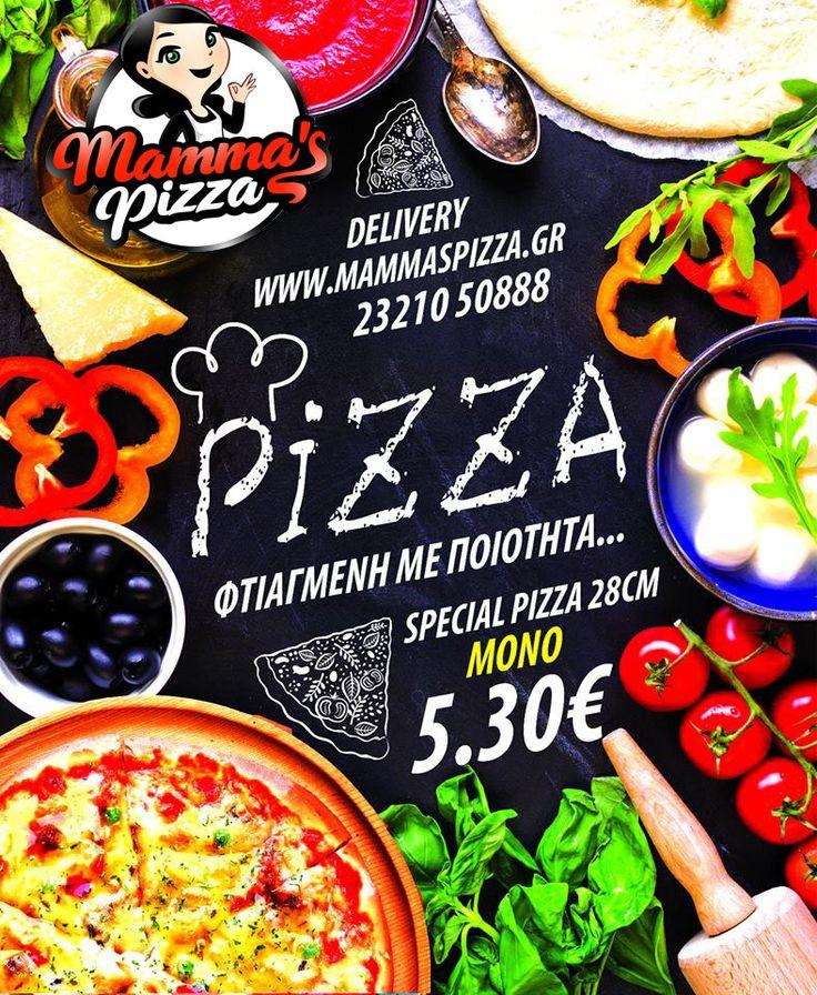 Οι καλύτερες γεύσεις στις καλύτερες τιμές έρχονται στην πόρτα σου με το πάτημα ενός κουμπιού... Διάλεξε mammas και γνώρισε ποιότητα και νοστιμιά!! #serres #pizza #delivery #pizzadelivery #onlinedelivery #food #pizzamammas