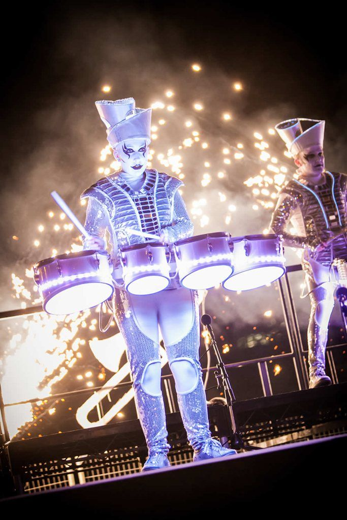 Hire / Book LED Drummers – Sparklers
