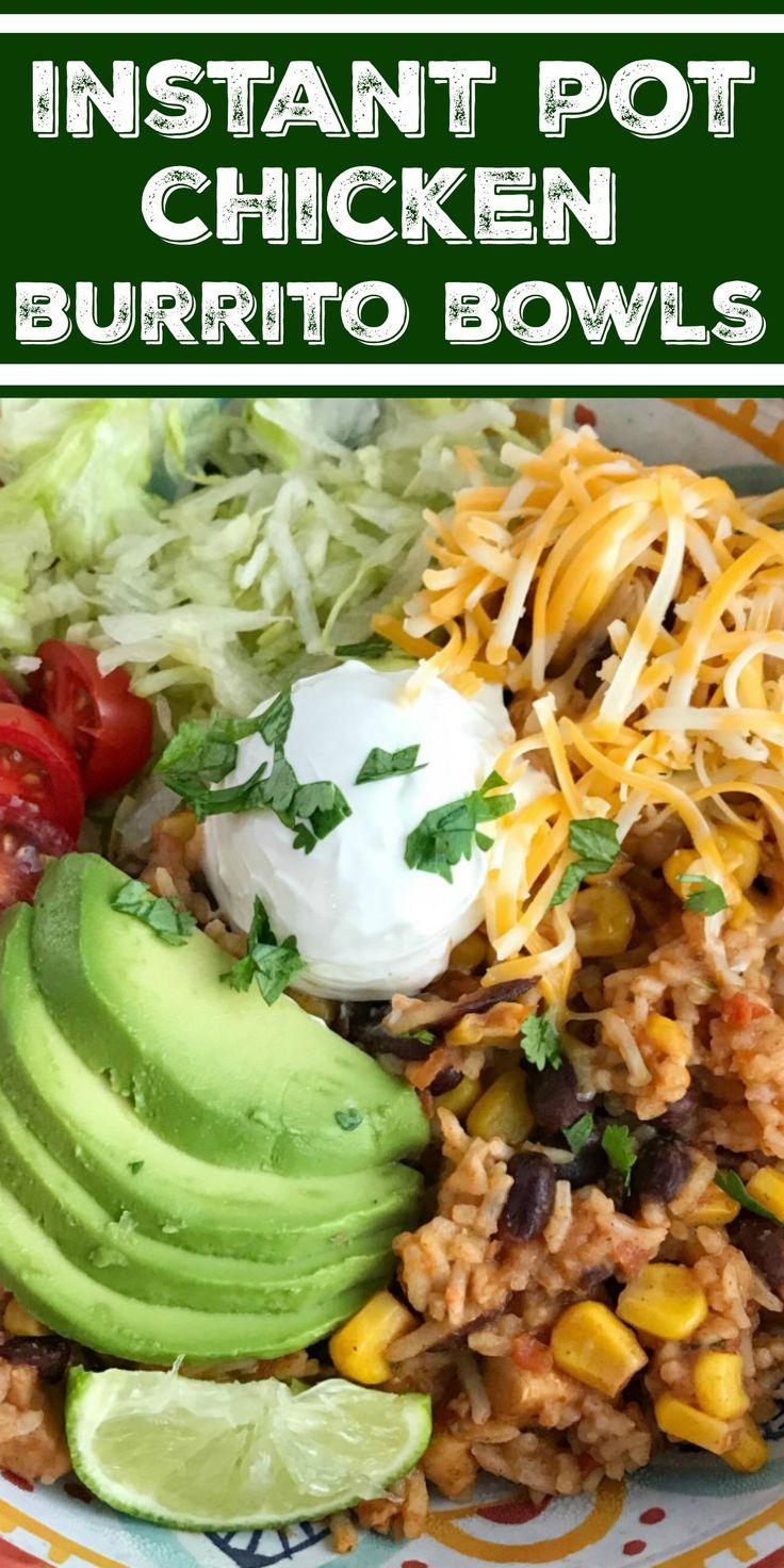 Instant Pot Chicken Burrito Bowls | Instant Pot Recipe | Chicken Recipes | Insta…