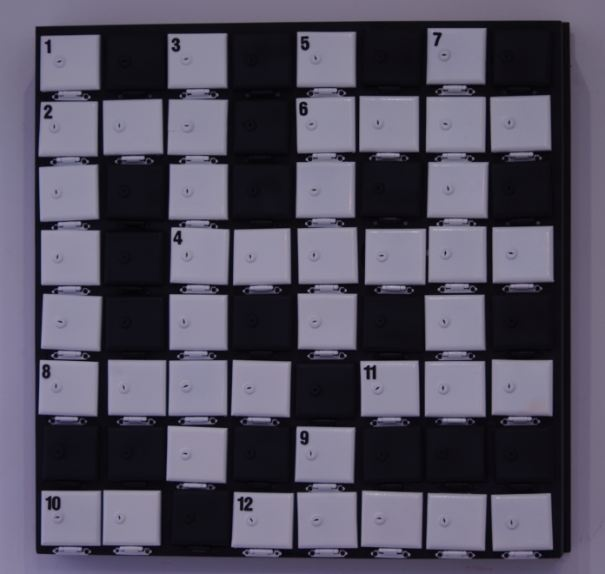 Crossword made from old post boxes