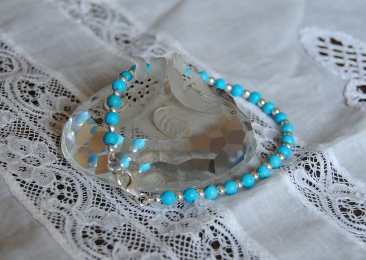 Turchese, braccialetto, made in Italy, pietre dure di ImonilidiLR su Etsy