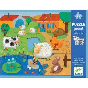 Puzzle Farma 20 elementów - DJECO DJ07117 - Tuliluli.pl