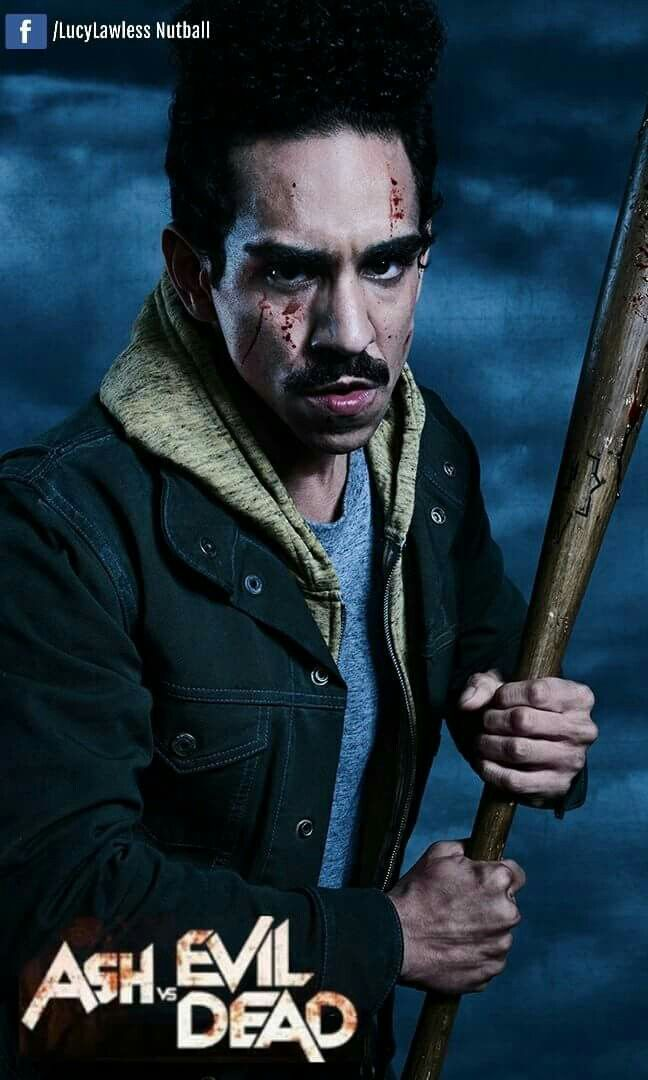 Pablo Simon Bolivar  played by Ray Santiago Pablo is Ash's coworker and loyal friend. Originally trained to become a Brujo, a Honduran shaman, Pablo feels that his destiny is to leave his legacy behind and fight alongside Ash.