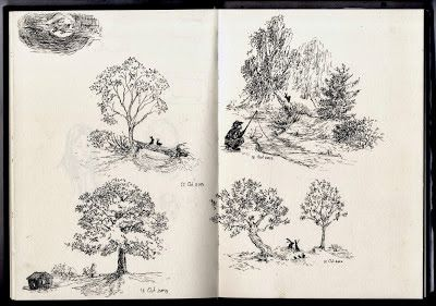 Fahfield: Sketches, four seasons