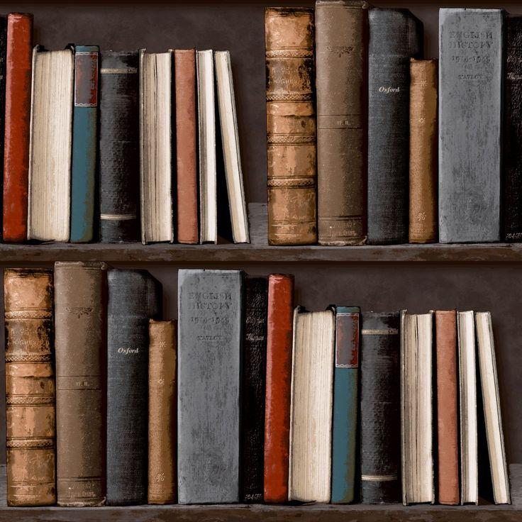 Grandeco Ideco Home Library Wallpaper – POB-33-01-6 – Multi