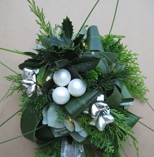 bloemstuk kerst ster detail